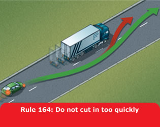 Highway Code - Rule 164 Do Not Cut In Too Quickly