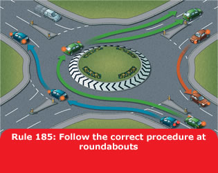 Highway Code - Rule 185 Follow The Correct Procedure At Roundabouts