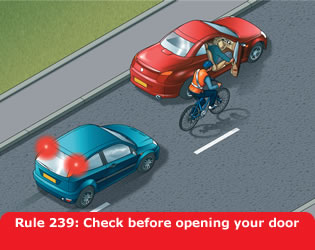 Highway Code - Rule 239 Check Before Opening Your Door