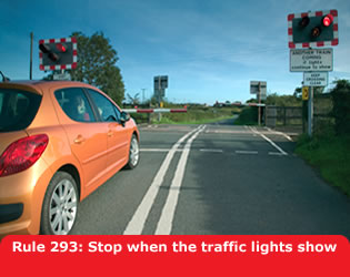 Highway Code - Rule 293 Stop When The Traffic Lights Show