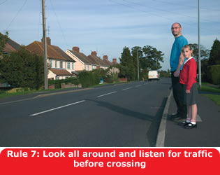 Highway Code - Rule 7 Look All Around And Listen For Traffic Before Crossing